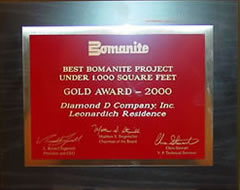 Best Bomanite Project under 1000 square feet.